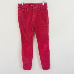 True Religion Red Velvet Skinny Leg Pants